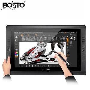 Image 2 - BOSTO KINGTEE 22UX Tavoletta Grafica per Disegnare 20 pcs chiave espresso, tablet monitor, stilo, scheda grafica monitor, interactive pen display