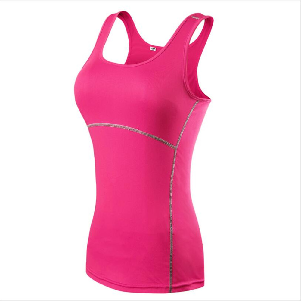 2018 Women Fitness Tights Vest Trainning Exercise Running Movement Tops Women Gym Singlet Flexible Breathable Tights Sportswear