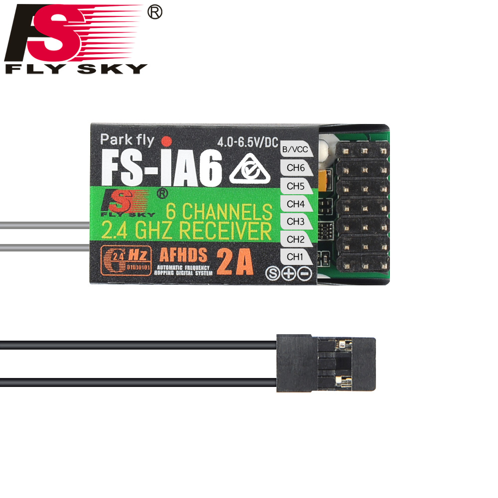 FLY SKY 1pcs Original FlySky FS-iA6 6 Channel Receiver AFHDS 2A 2.4G Radio system Replacement For FS-I10 FS-I8 FS-I6