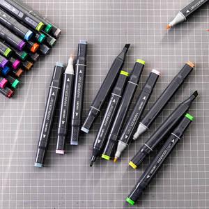 Image 5 - デリ 24/36/48/60 色アートマーカーデュアルヒント 1 7 ミリメートルファインブラシマーカーペン水ベースのインクマーカー描画するためのマンガアート用品