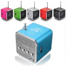 TD-V26 Mini Speaker Portable Digital LCD Sound Micro SD / TF FM Radio Music Stereo Loudspeaker for Laptop Mobile Phone MP3