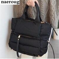 The Best Christmas Gift Winter Women Cotton Tote Bag Ladies Warm Shoulder Bag Handbag Large Crossbody