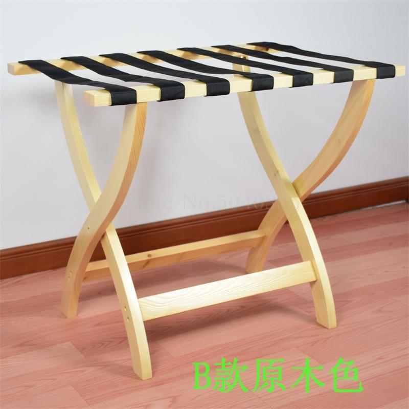 Гостиничная мебель для отеля багажные стеллажи прикроватная тумбочка для спальни складной домашний пол вешалка для одежды дерево - Цвет: VIP 8