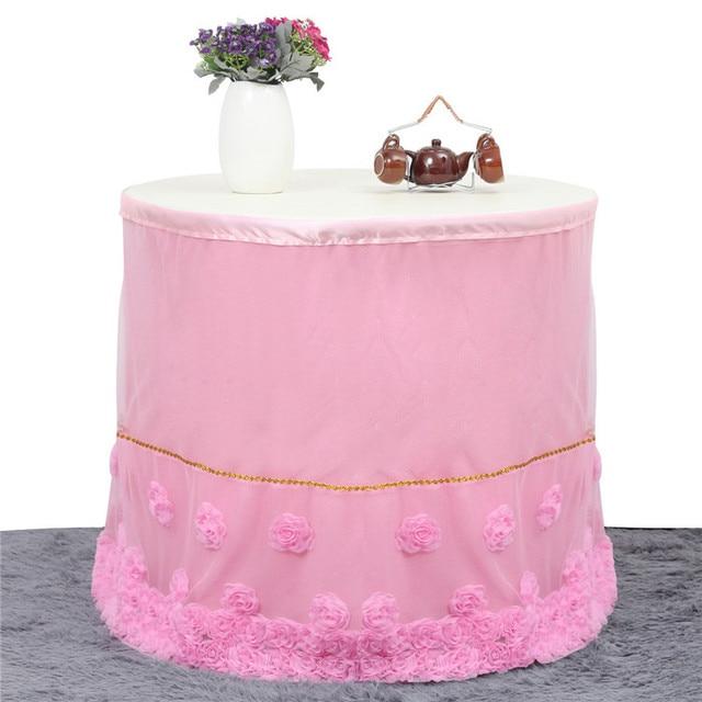80x273cm 3 yards Wedding Table Skirt Custom Chiffon Table Skirting Baby Shower Birthday Party Decoration