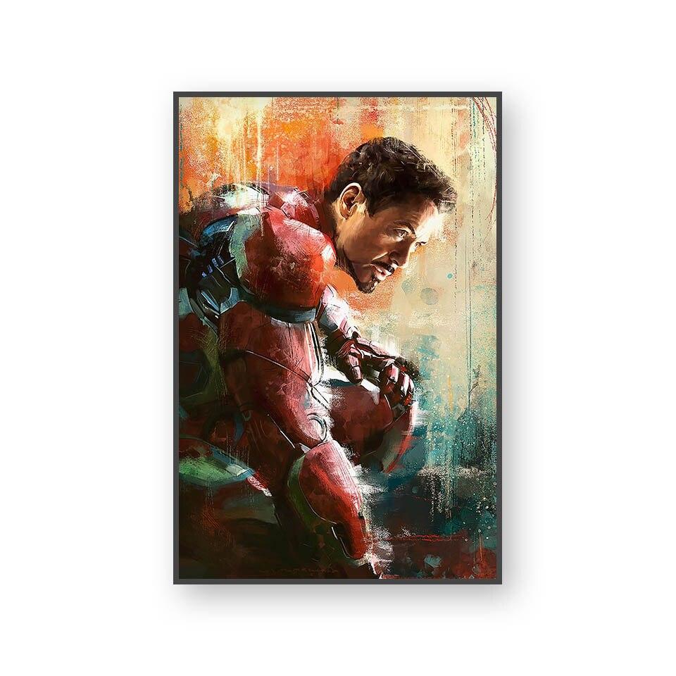 Настенный художественный холст с печатью постера, настенные картины для домашнего декора, Марвел, Мстители, фильм супергерой, Дэдпул, Железный Человек-паук, Локи - Цвет: L394R