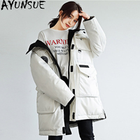 AYUNSUE 90% Duck Down Jacket Women Canada Style Parka Winter Coat Women Korean Long Coats Loose Overcoat Chaqueta Mujer MY1507