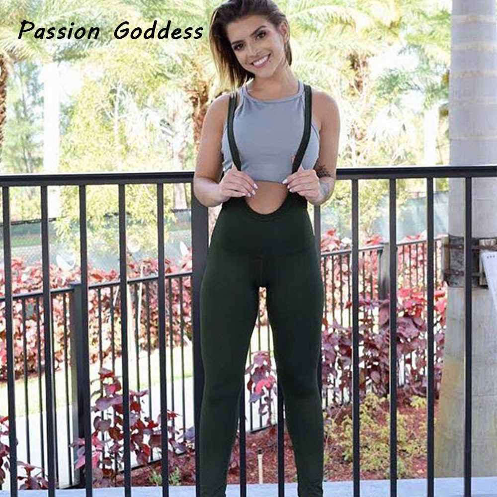 a1b978a832b ... Women Fitness Sportswear Jumpsuits Full Bodysuit Elastic Overalls  Outfits Mujer Slim Work Out Bandage Jumpsuits Romper ...