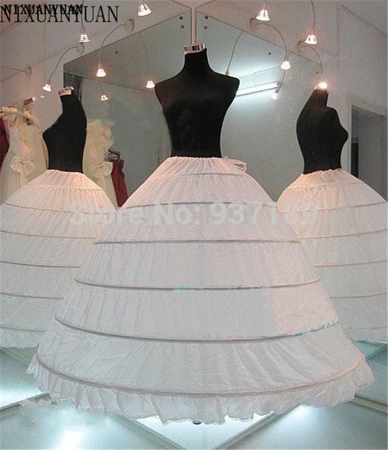 NIXUANYUAN 2020 HOT Sale 6 Hoop Petticoat Underskirt For Ball Gown Wedding Dress Underwear Crinoline Wedding Accessories