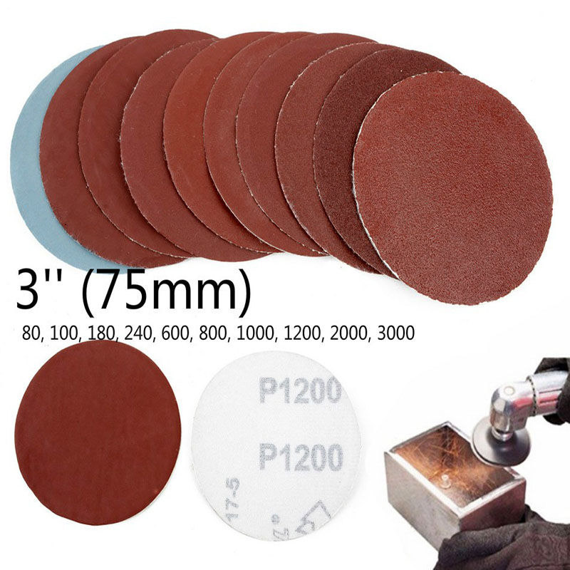 100pcs 70mm Diamond Cutting  Dremel Accessories Sandpaper Sanding Drum Polishing Sand Rotary Tool Accessories