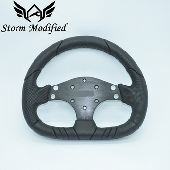 SuTong branket carro rodas de corrida de direção com couro pu e alumínio 13 ''tamanho 320mm PU cobertura de volante estilo do carro