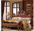Muebles de lujo Europeo Clásico Dorado Completo Hecho A Mano de Talla de Madera de Madera Cama Doble Cama 1.8 m camas Barroco