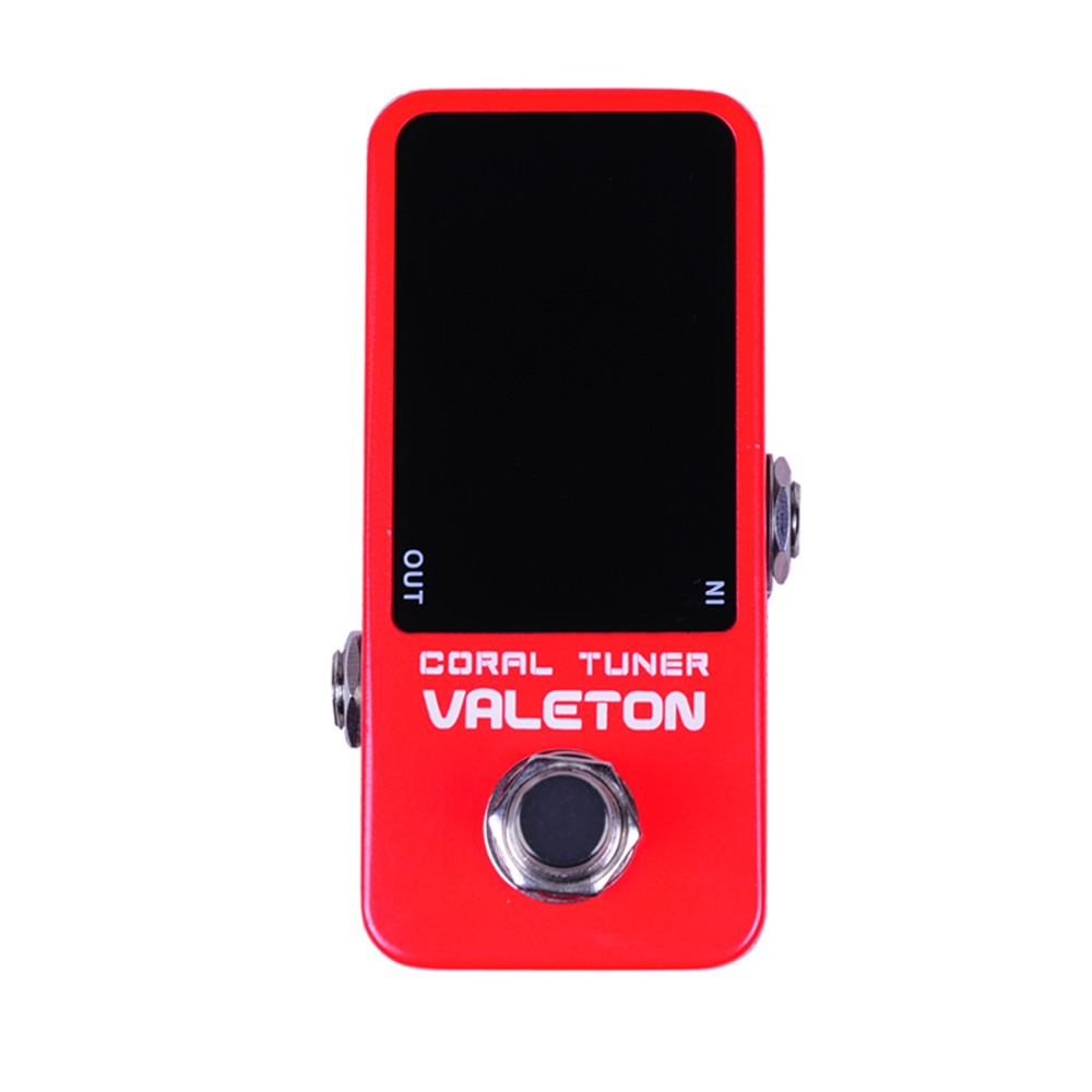 Valeton Coral Tuner Guitar Pedal Effect True Bypass Silent Tuning Good Stability Fast Detection CTU-1 valeton katfish guitar effect auto wah pedal highly accurate pristine tone true bypass caw 1