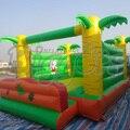 Envío gratis por mar precio de fábrica y alta calidad inflable de la gorila trampolín inflable casa de la despedida venta