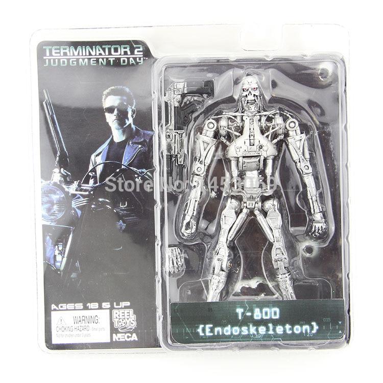Free Shipping NECA Terminator 2 Judgment Day T-800 Endoskeleton PVC Action Figure Robot Toys 7