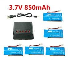 BLL batería 5 unids 3.7 V 850 mAh Syma X5SW X5SC X5S X5SC-1 Cargador de Batería con 5 in1 Set para Drone RC Quadcopter Envío gratis