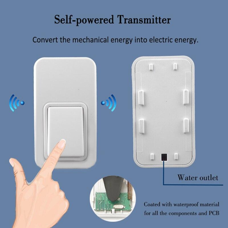 25 chimes ring doorbell no battery that waterproof bell button Low price Smart home doorbell wireless door chime