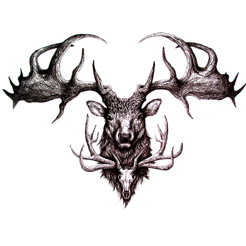 High Quality Deer Skull Stickers-Buy Cheap Deer Skull Stickers lots from High Quality China Deer