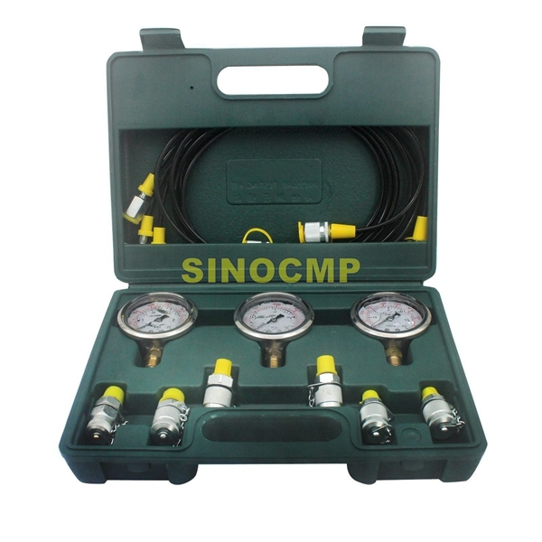 Pressure Gauge Diagnostic  Hydraulic Pressure Test Kit for Most Brand Excavator , 2 year warranty