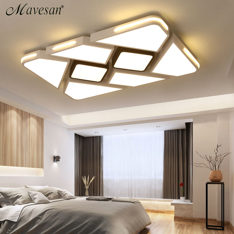 Modern White/Black Surface Mounted Ceiling Lights For