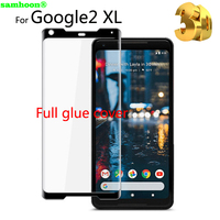 Tempered Glass For Google Pixel 2XL Screen Protector FULL GLUE Case Friendly Premium Screen Glass Protector