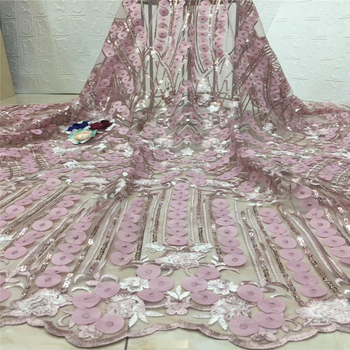 Tollola African French Tulle Lace Fabric High Quality With Bead Nigerian Embroidered Tulle Mesh Fabric For African Party