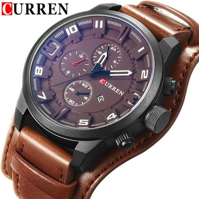 575c16e79b3 Relogio Masculino CURREN Watch Men Waterproof Calendar Sport Military Male  Clock Top Brand Luxury Big Dial Man Wristwatch 8225