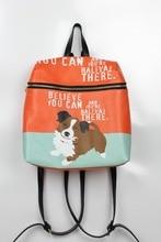 Женщины из натуральной кожи рюкзаки для женщин старинные школьные сумки для колледжа девушка путешествия bagcat собака рюкзак