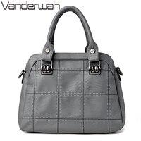 VANDERWAH TOTE Genuine Leather Bags Handbags Women Famous Brands Casual Large Capacity Big Shoulder Crossbody Bags