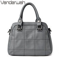 VANDERWAH TOTE Genuine Leather Bags Handbags Women Famous Brands Casual Large Capacity Big Shoulder Crossbody Bags