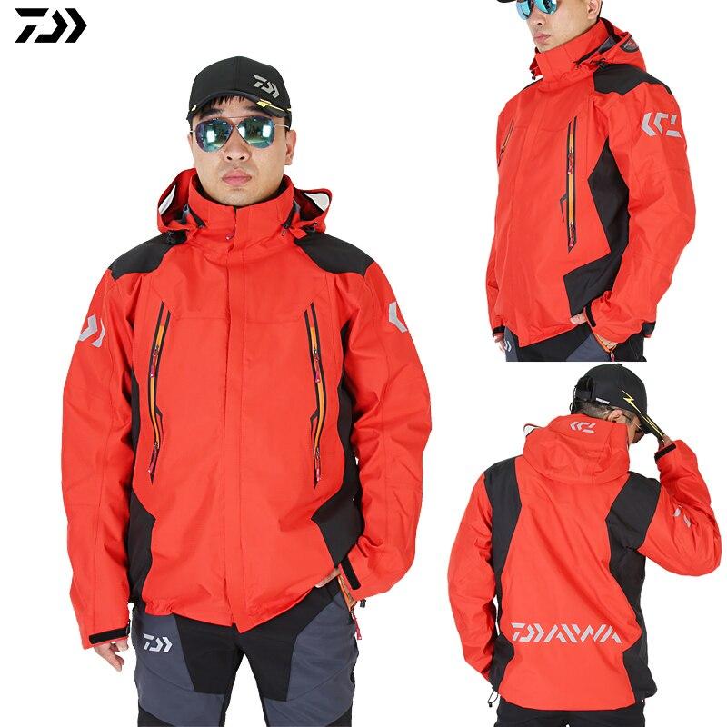 DAIWA veste de pêche manteau automne hiver garder au chaud DAWA coupe-vent imperméable Sports de plein air deux pièces costume doudoune Parka
