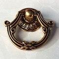 Anéis de trêmula puxadores de bronze do vintage botão de bronze antigo da gaveta porta do armário botão alça