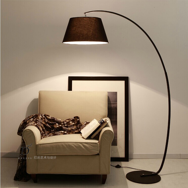 E27 base Modern brief fashion american vintage iron bedside floor ...