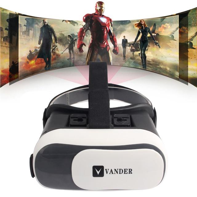 2016 New Hot Vander CAIXA Versão 3.0 VR VR Realidade Virtual Óculos 3D Para 3.5-6.0 polegada de Smartphones
