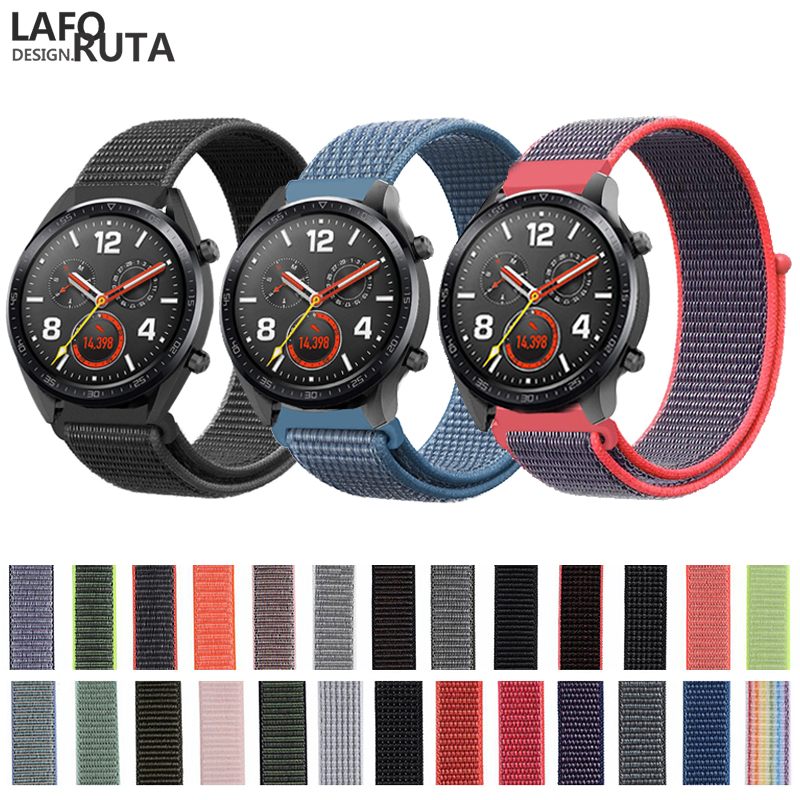 Laforuta Nylon Band For Huawei GT Watch Strap Band Watch 2 Pro Wristband Honor Magic Watchband 22mm Quick Release Loop Belt