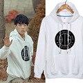 2015 Kpop Ikon b. Я бобби JinHwan юн Hyeong дон хек чан ву июня мотыга-продажи толстовки широкий с длинными рукавами о-образным шею футболка