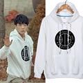 2015 Kpop Ikon b . i bobby JinHwan Yun Hyeong Dong Hyuk Chan Woo Jun Hoe hoodies loose long-sleeve o-neck sweatshirt