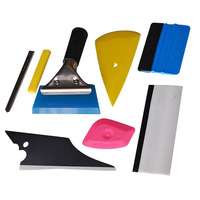 7Pcs Vehicle Glass Protective Film Car Window Wrapping Tint Vinyl Installing Tool Rubber Squeegee Scraper Film