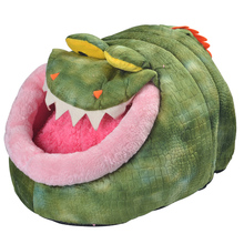 Funny Soft Fleece Dinosaur Crocodile Dog Cat Pet Bed Mat House Kennel Animal Shape Dog Puppy Nest Sleeping Bag Free Shipping