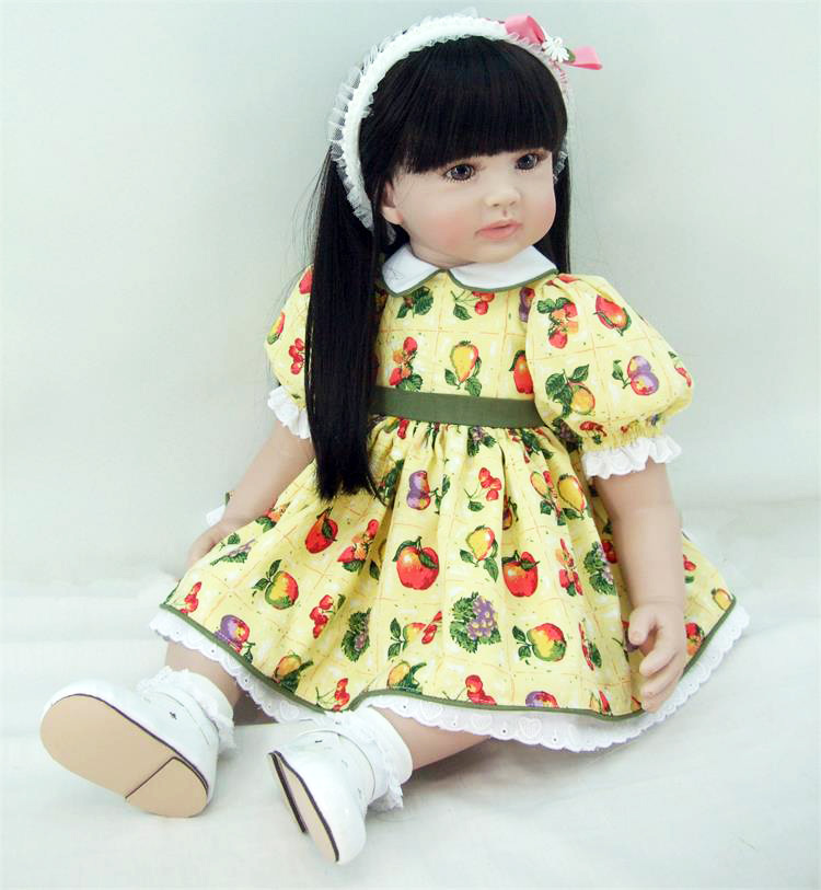New 58cm Silicone Vinyl Reborn Baby Doll Toys Girls Brinquedos