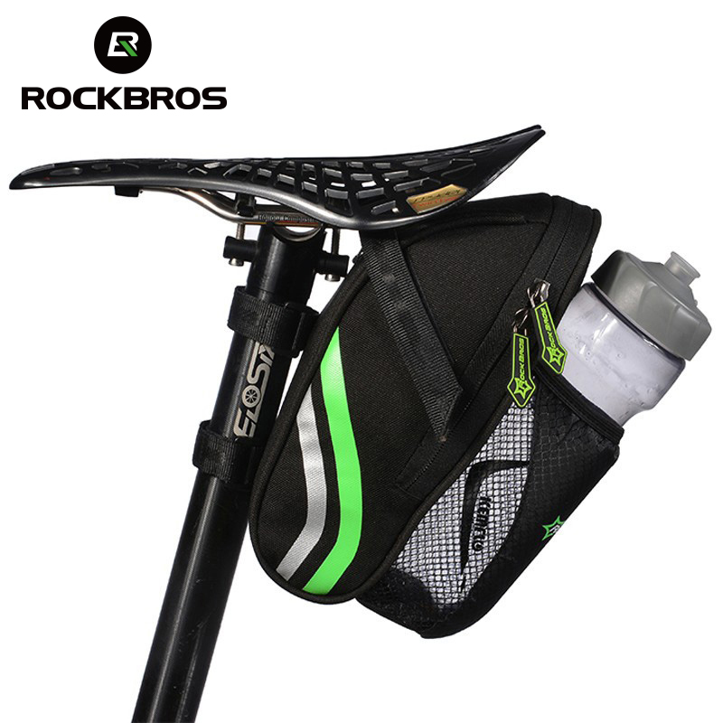 ROCKBROS Bicycle Saddle Bags Riding Bike Portable Folding Rear Seatpost Bottle Bags MTB Mountain Cycling Back Seat Tail Package