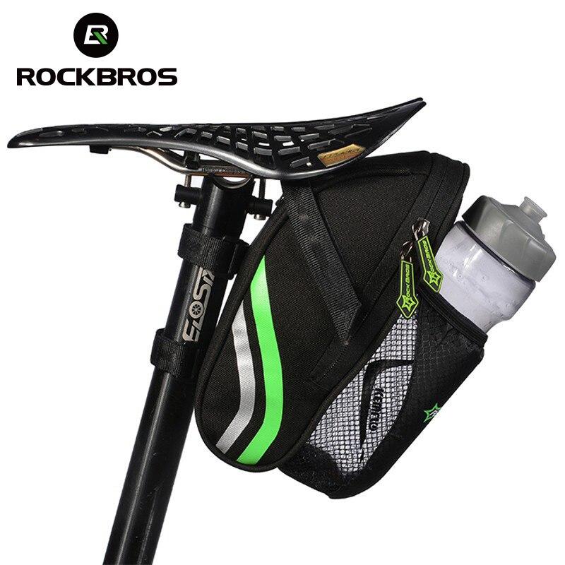 b6f74810ee9 RockBros Ciclismo Bolsa De Bicicletas Bicicleta Alforja Trasera de Una Silla  de Montar Bicicletas Plegables Portátiles Bolsas de Botella MTB Tija de  Sillín ...