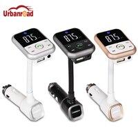 Urbanroad Bluetooth гарнитура для авто MP3-плееры громкой связи Беспроводной fm-передатчик Радио адаптер USB Зарядное устройство Поддержка USB SD карты па...