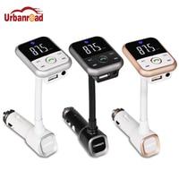 Urbanroad Bluetooth Car Kit נגן MP3 דיבורית אלחוטי משדר FM רדיו מתאם מטען USB כרטיס TF SD USB תמיכה