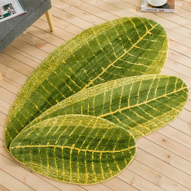 Green leaf flooring mats home carpet Plantain leaf carpet cleaning carpet and flooring tile for sale living room Decor