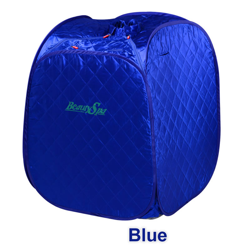 Portable Personal Folding Home Steam Sauna Therapeutic Steam Sauna Spa Head Cover Full Body Slim Detox Weight Loss Machine Blue набор масло levissime home spa body pack