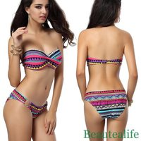 2014 Brand New Sexy Fashional Bohemia Strapless Bikini For Women