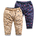 YBR10250547  2016 Winter Fashion Baby Boy Pants Print Stars Fleece Boy Pants Worm Casual Boy Clothes