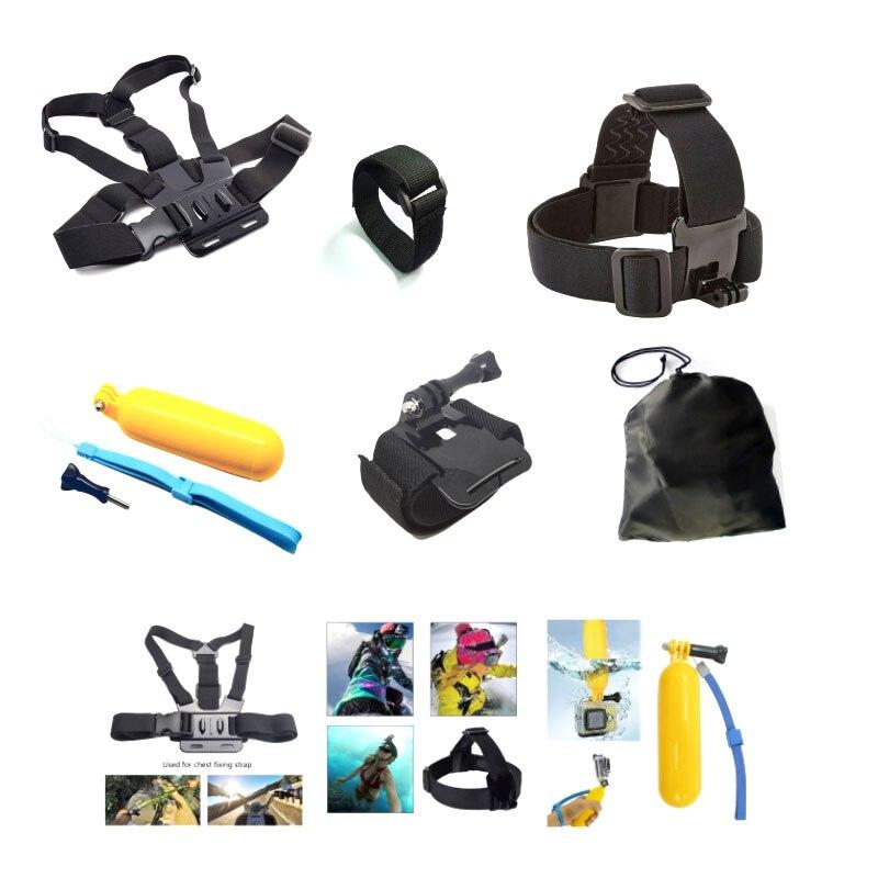 Free shipping Gopro Accessories Set Helmet Harness Chest Belt Head Mount For Go pro hero 4 3+2 1 xiaomi yi Sj4000 sjcam
