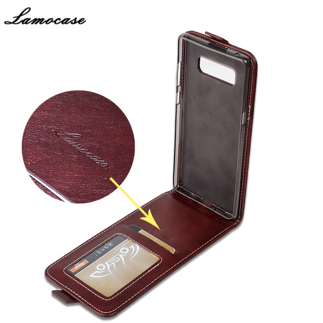 Lamocase Case For Samsung Galaxy Note 8 Leather Flip Cover For Samsung Galaxy Note 8 SM-N950F Retro Protective Phone Bags