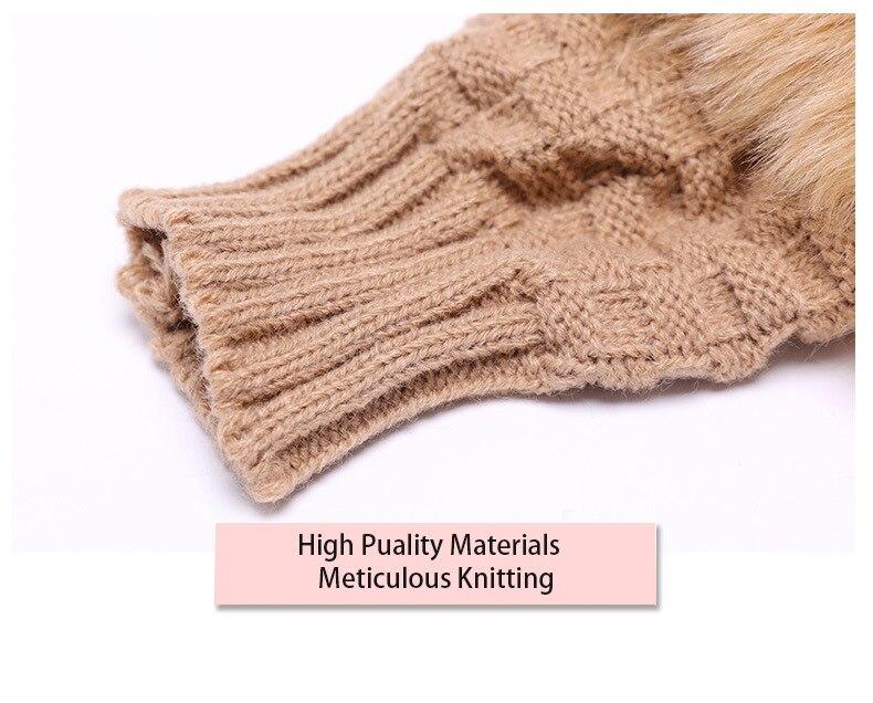Winter Knitted Gloves New Wrist Trim Gloves 9